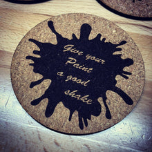 Load image into Gallery viewer, Miniature Model Painting Words of Wisdom Cork Coaster Set