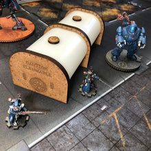 Load image into Gallery viewer, Crystal Light Based Storage Tank Miniature Industrial Terrain