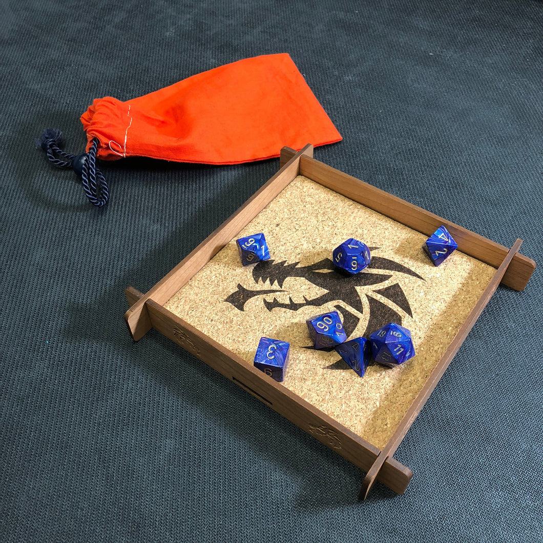 Dragon Themed Tabletop Gaming Dice Tray