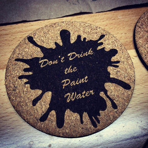 Miniature Model Painting Words of Wisdom Cork Coaster Set