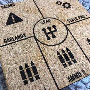 Gaslands Dashboard Stats Tracker Pad Set