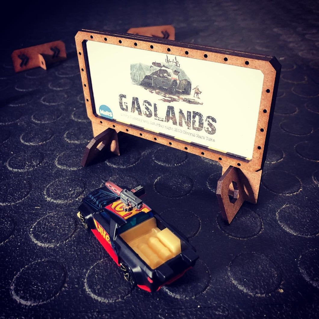 Tabletop Gaming Billboard Set - Gaslands