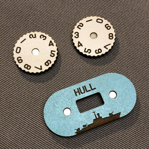 Naval War Gaming Damage/Hull Dial Counter Set