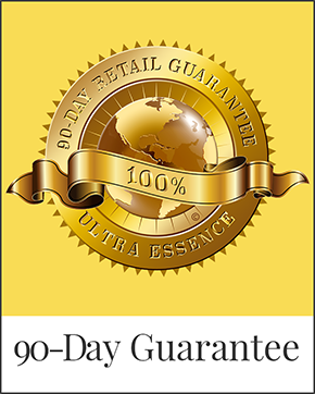 90-Day Guarantee | Ultra Essence natural skin care products, with anti aging benefits, are specially formulated to moisturize dry skin for radiant milky-soft skin
