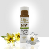 Formulated with aloe, beeswax and sweet almond oil, Ultra Lip Balm restores dry, cracked lips to soft and supple.
