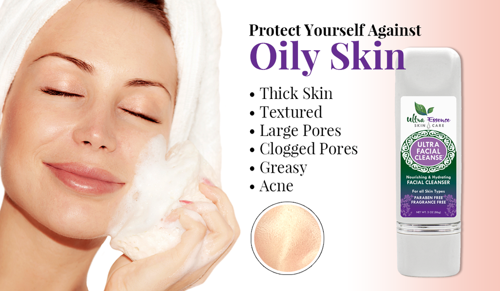 Oily Skin | Ultra Essence natural skin care products, with anti aging benefits, are specially formulated to moisturize dry skin for radiant milky-soft skin.