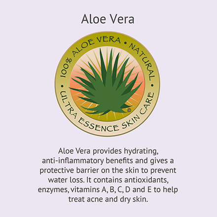 Aloe Vera | Ultra Essence natural skin care products, with anti aging benefits, are specially formulated to moisturize dry skin for radiant milky-soft skin.