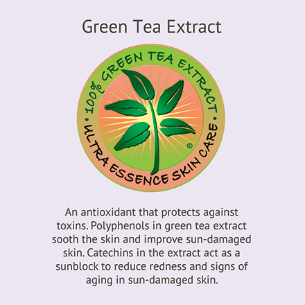 Green Tea Extract | Ultra Essence natural skin care products, with anti aging benefits, are specially formulated to moisturize dry skin for radiant milky-soft skin.