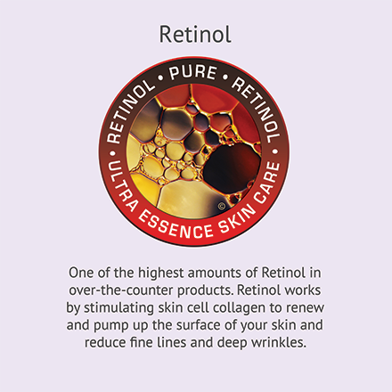 Retinol | Ultra Essence natural skin care products, with anti aging benefits, are specially formulated to moisturize dry skin for radiant milky-soft skin.
