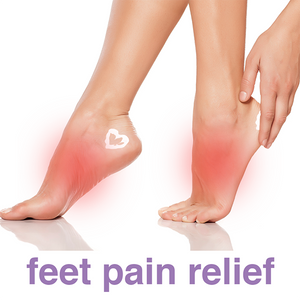 Ultra Pain Free 3 oz. tube, a natural, cooling topical pain reliever, can be used on the feet to relieve foot pain.