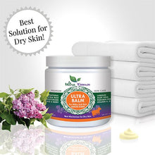 Load image into Gallery viewer, Lemon scented Ultra Balm 16 oz. Jar is the best natural, daily moisturizer for all skin types to give you milky soft skin.