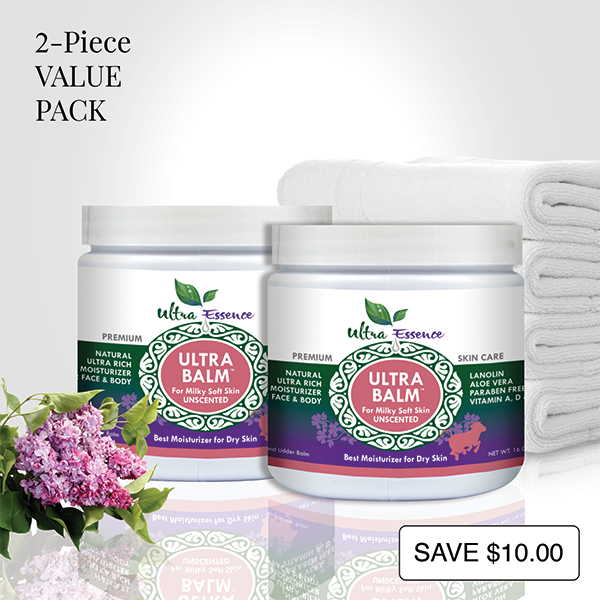 Unscented Ultra Balm 16 oz. Jars are the best natural, daily moisturizers for all skin types to give you milky soft skin.