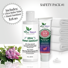 Load image into Gallery viewer, Safety Pack 1: Ultra Balm 3 oz. Tube plus Ultra Hand Sanitizer