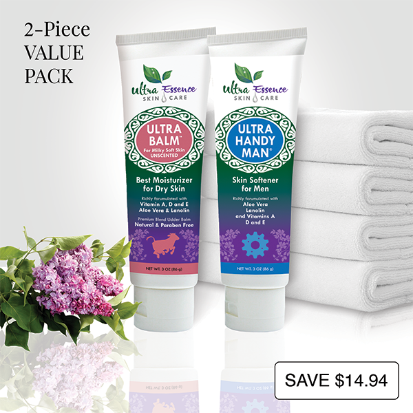 Unscented Ultra Balm 3 oz. tube is the best natural, daily moisturizer for all skin types to give you milky soft skin. Ultra Handy Man 3 oz. tube is the best natural, non-greasy daily moisturizer and skin softener for men for face, body, dry hands and cracked heels.