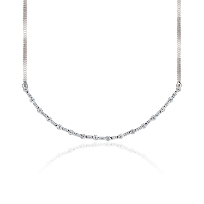 Sushma, Diamond Solitaire Necklace