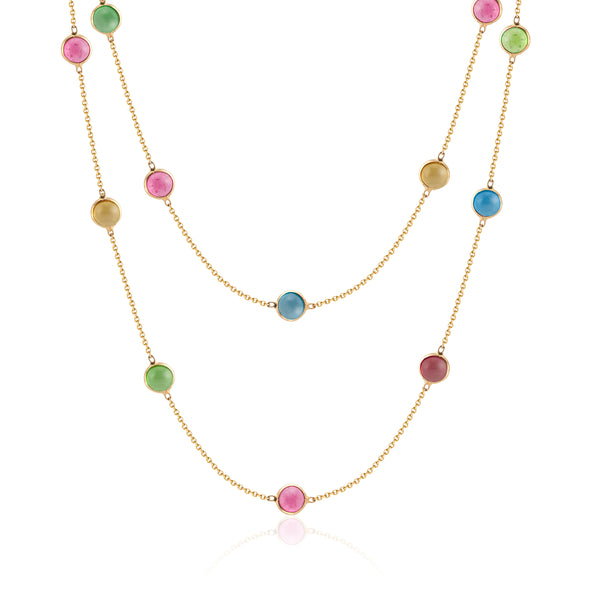 Jayne, Multi Tourmaline Layering Necklace