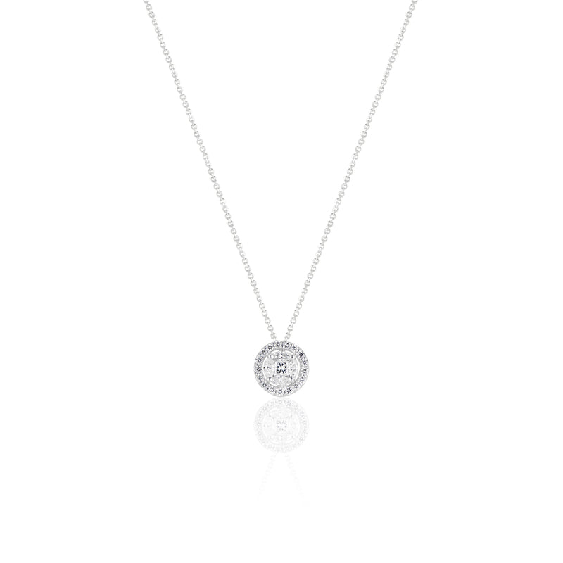 Beatrice, Illusions Halo Diamond Necklace