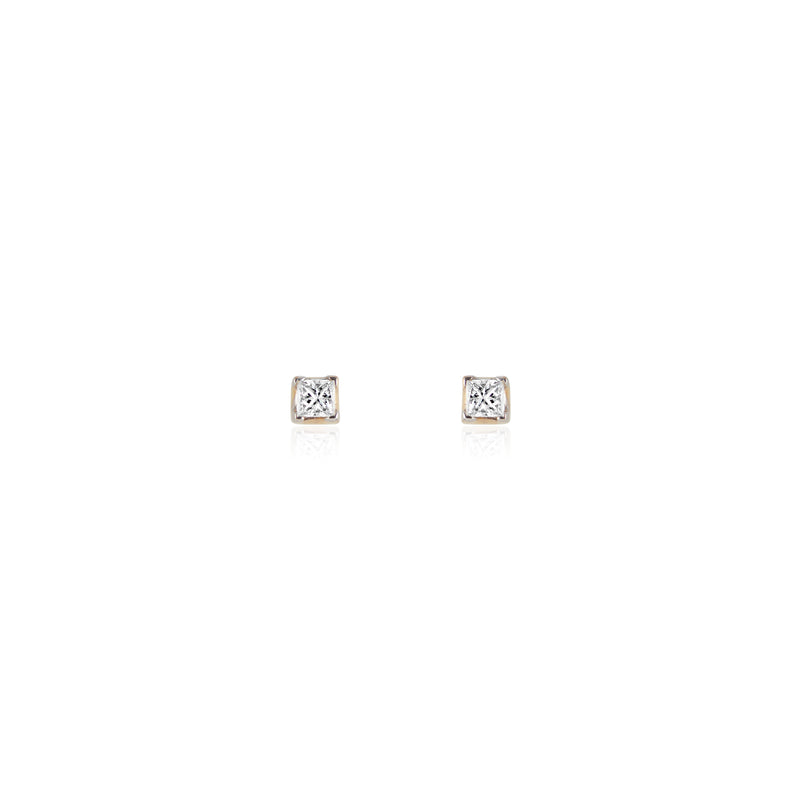 Dorothy, Square Diamond Studs