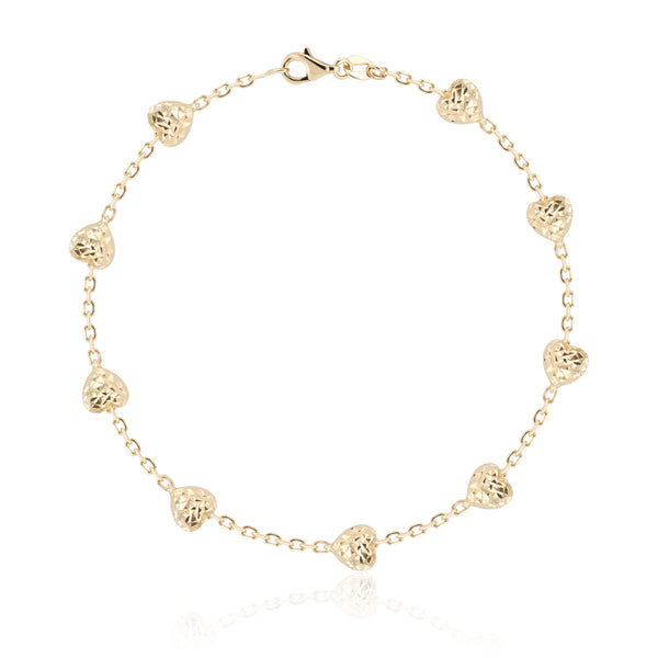Patricia Heart of Gold Bracelet