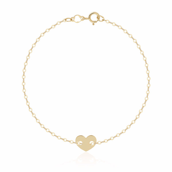 Shari Heart Bracelet, 14k Gold