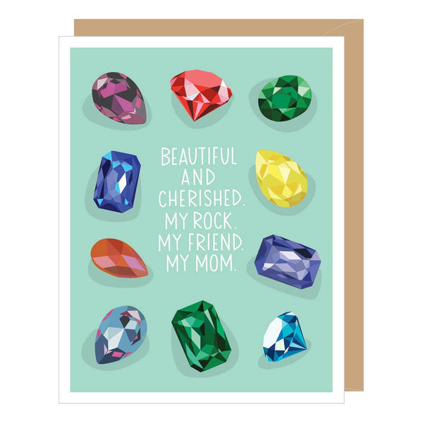 MY ROCK MOM GEMS MOTHER'S DAY CARD