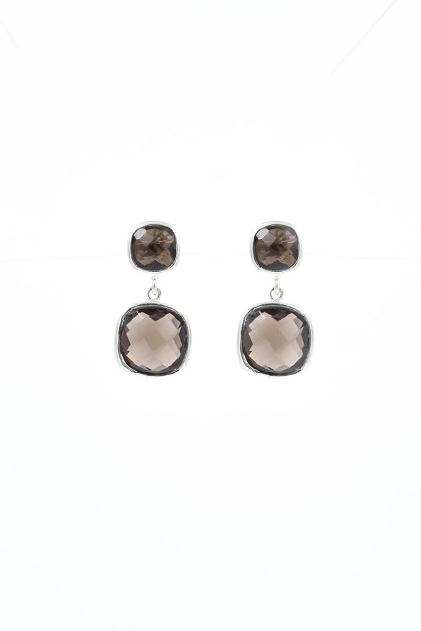 Brigid, Smokey Quartz Earrings