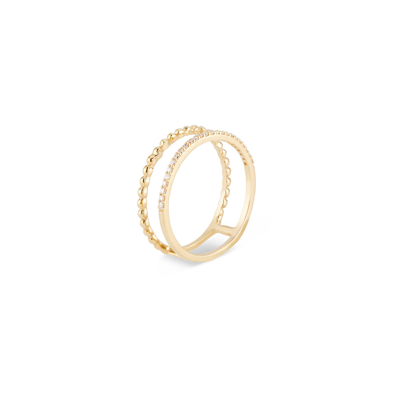 Cora Double Diamond Ring