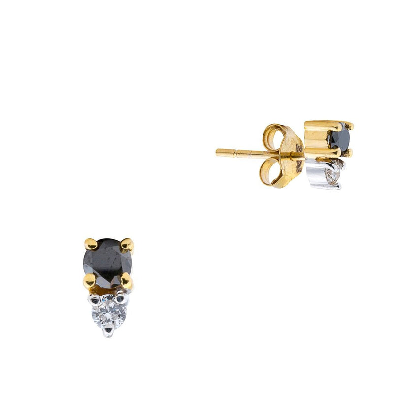 Astrid, Black and White Diamond Studs