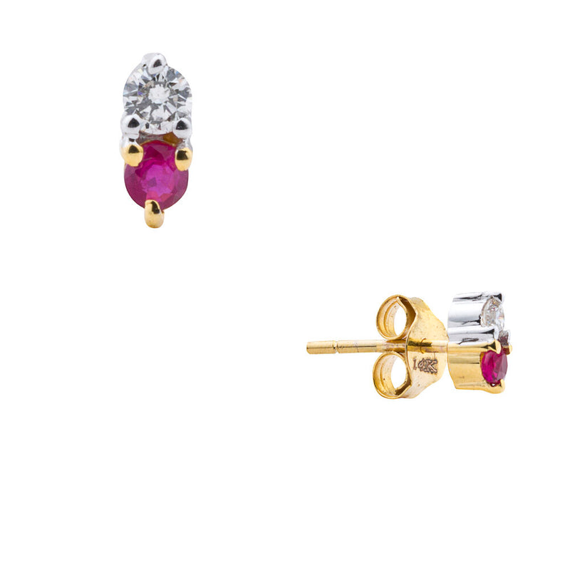 Paloma, Double Ruby Diamond Studs