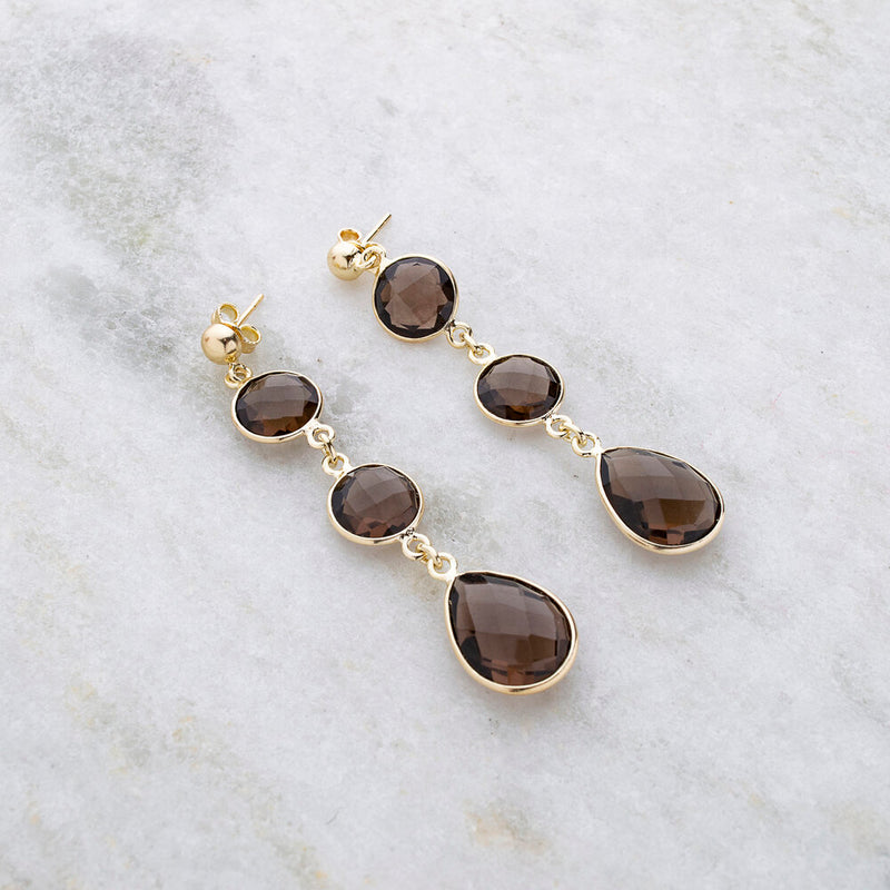 Kai Smokey Quartz ,Gold Vermeil