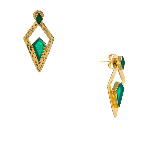 Norma, Green Onyx Gold Vermeil