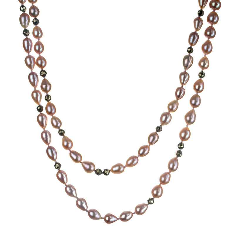 Hilary, Cultured Pearl and Pyrite Necklace