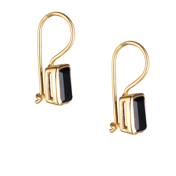 Rea, Black Onyx Earrings