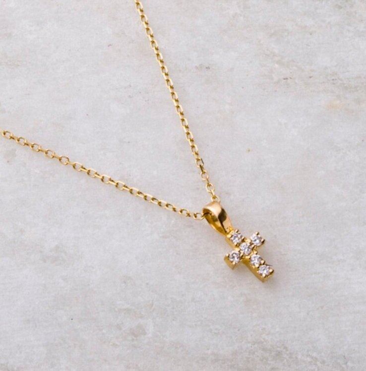 Faith, Diamond Cross Necklace