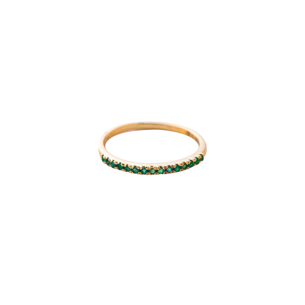 Sana, Half Eternity Emerald Ring