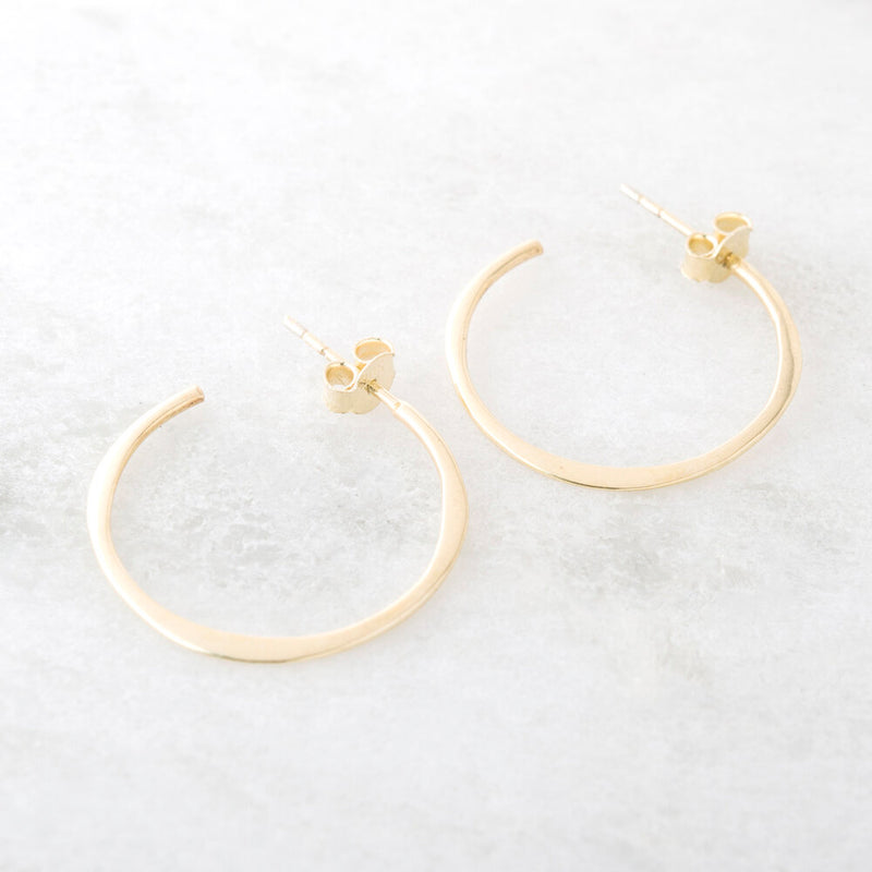 Medium Hoop, Gold Vermeil
