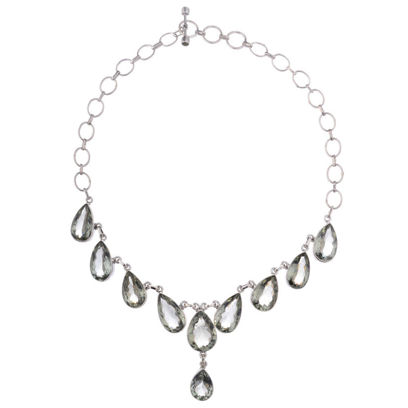 Alessandra, Praeseolite Necklace