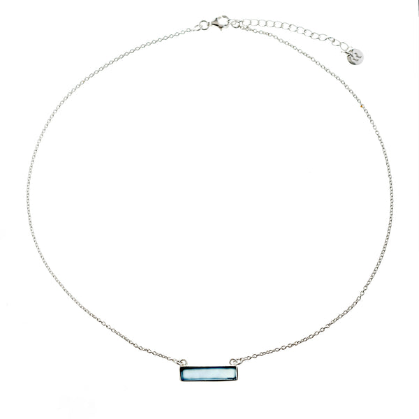 Gina, Blue Chalcedony Necklace