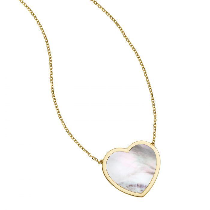 Heather, Mother of Pearl Heart Necklace