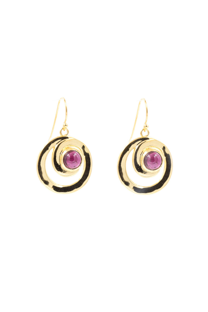 Oma, Garnet Earrings