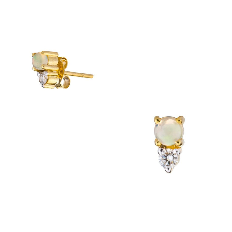 Astrid, Opal and Diamond Studs