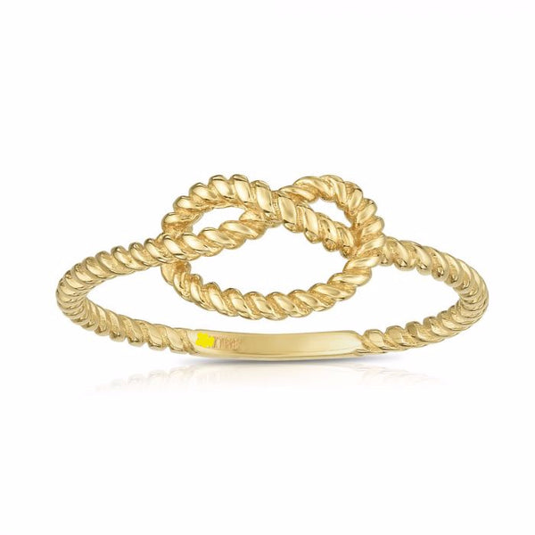 Love Knot Ring, 14k Gold