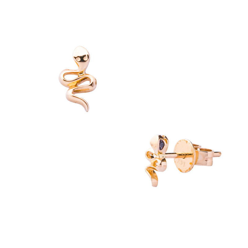 Medusa,Black Diamond Snake Studs