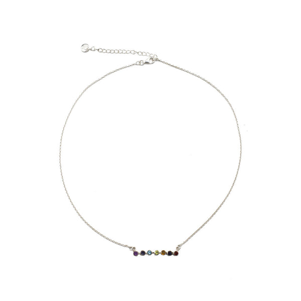Pride Gemstone Bar Necklace