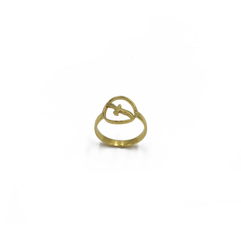 Yasmin Bird Ring, Gold Vermeil