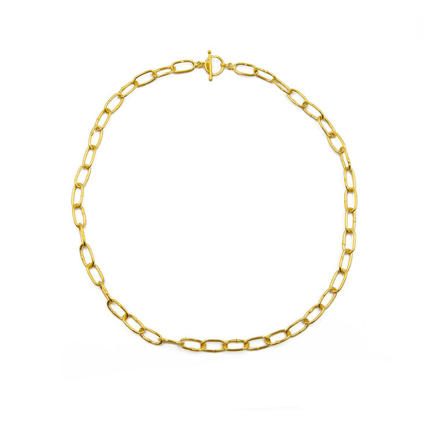 Ida Big Link Chain, Gold Vermeil
