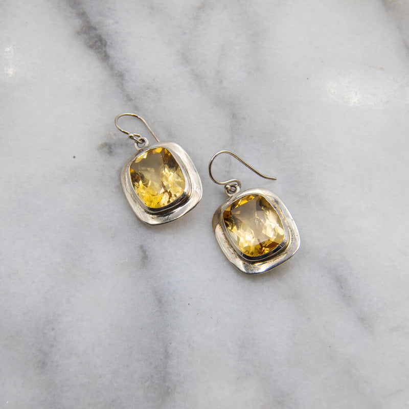 Claire, Citrine Earrings