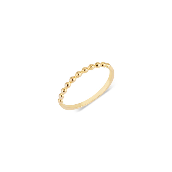 Norah, 14k Beaded Ring