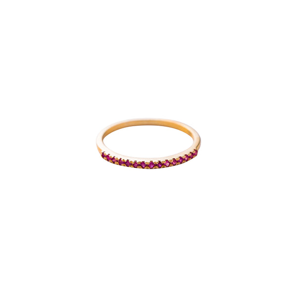 Sana, Half Eternity Ruby Ring