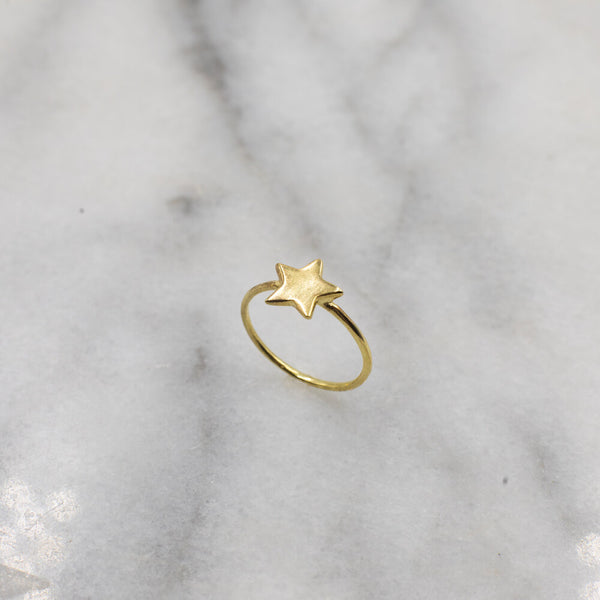 Star Ring, Gold Vermeil